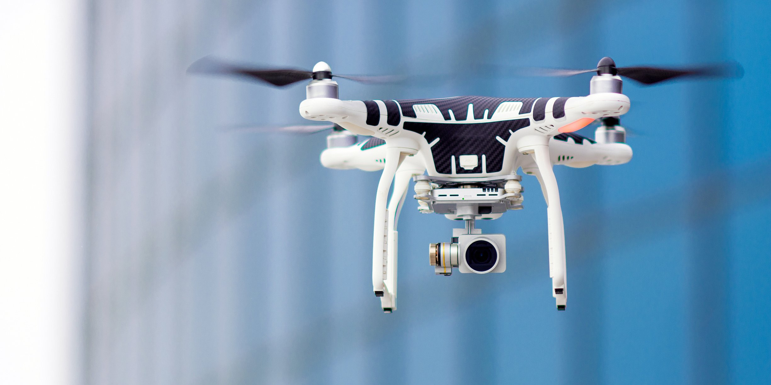 Drone taking pic for Oregon Workers compensation Claims