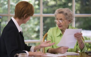 oregon workers compensation attorney meeting with client